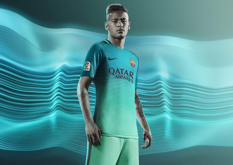 Neymar con la nueva camiseta del FC Barcelona | Foto Nike