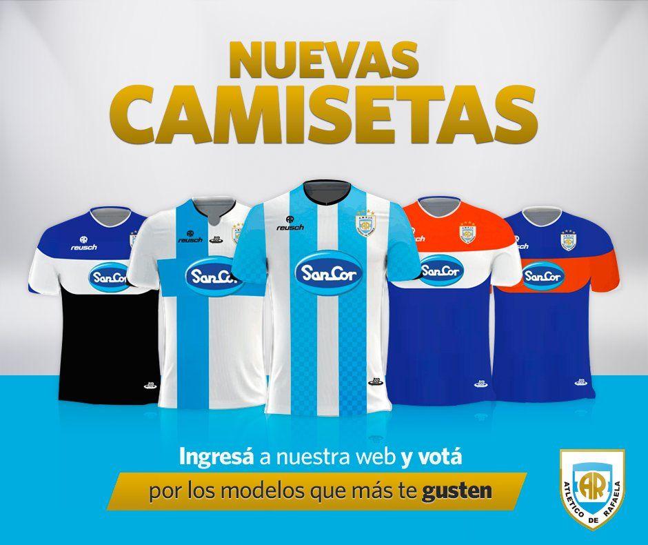 Las opciones de camiseta para Atlético Rafaela   Foto Web Oficial