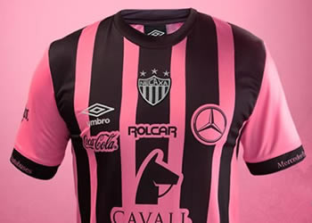 Camiseta rosa del Club Necaxa | Foto Web Oficial