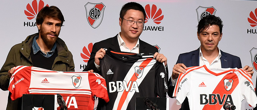 Huawei es el nuevo sponsor de River | Foto Web Oficial