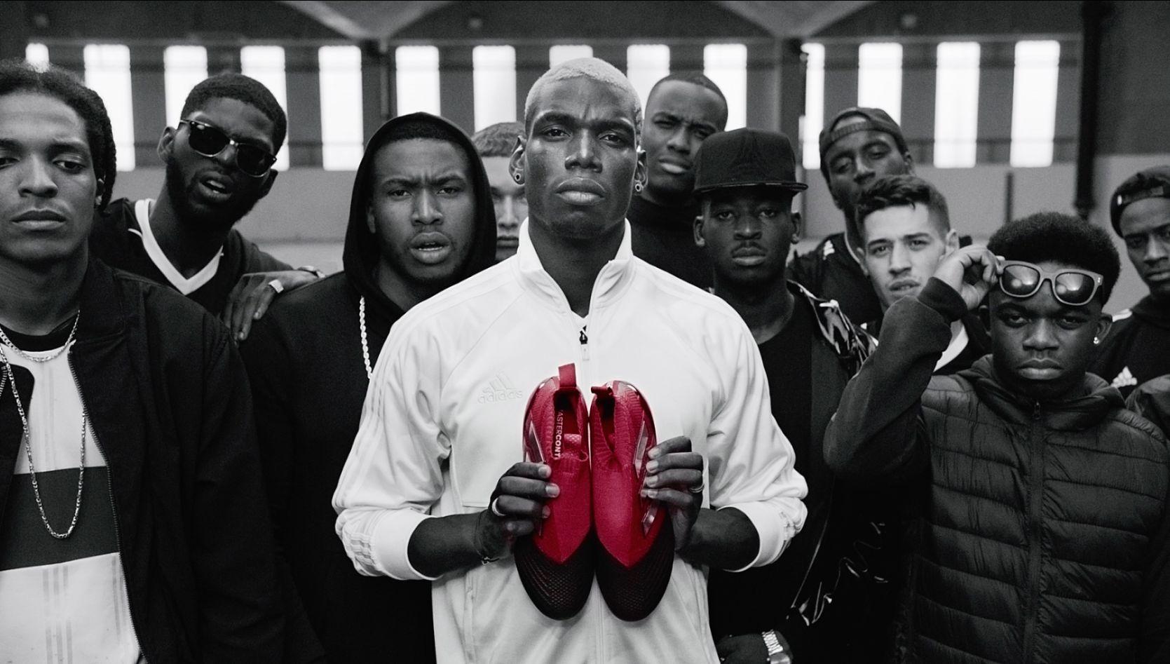 Pogba con los ACE17 | Foto Adidas