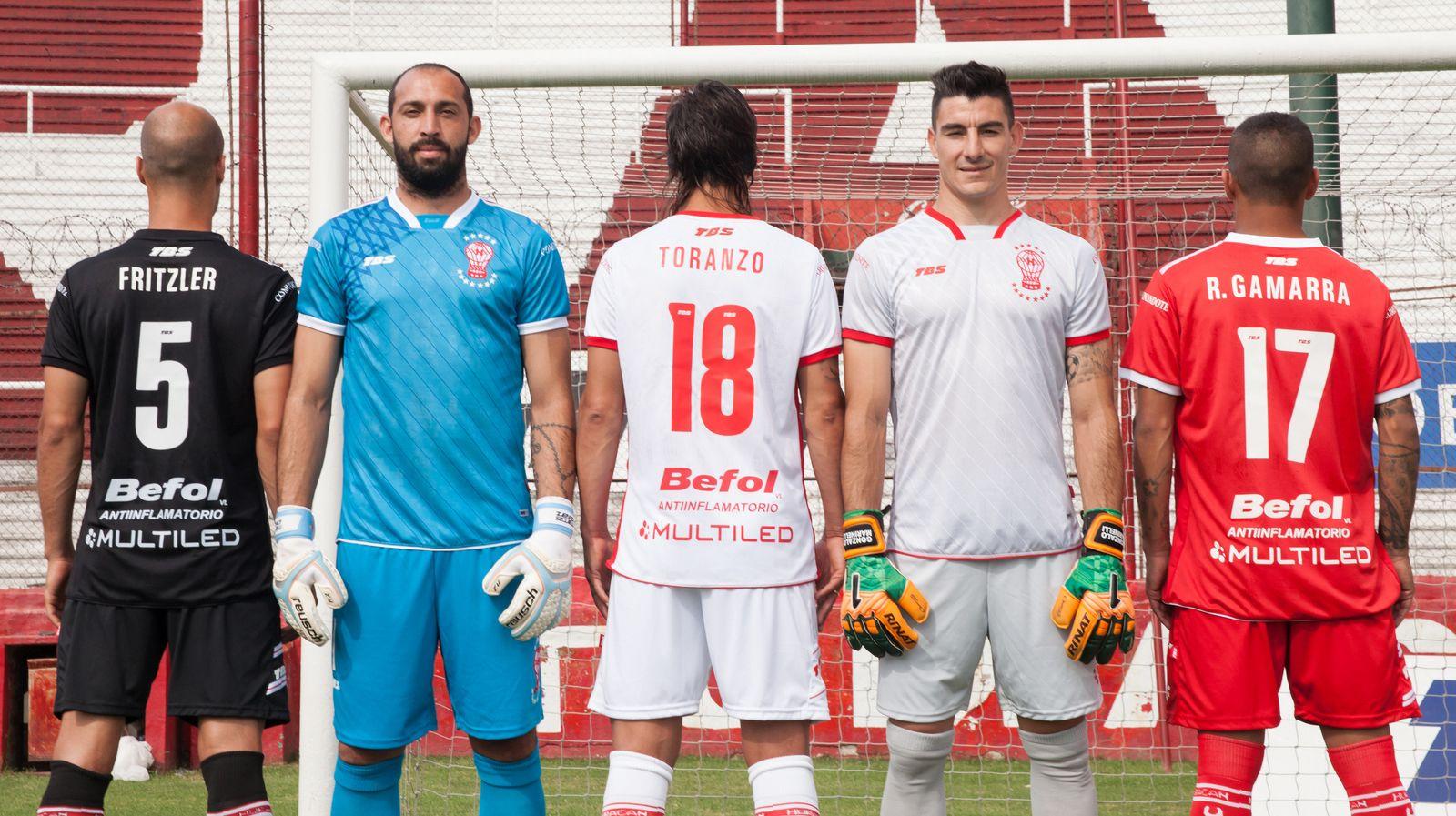 Nuevas camisetas de Huracán | Foto Web Oficial