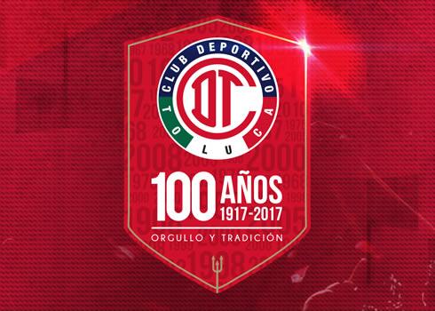 Logo por los 100 años del Toluca | Foto Facebook Oficial