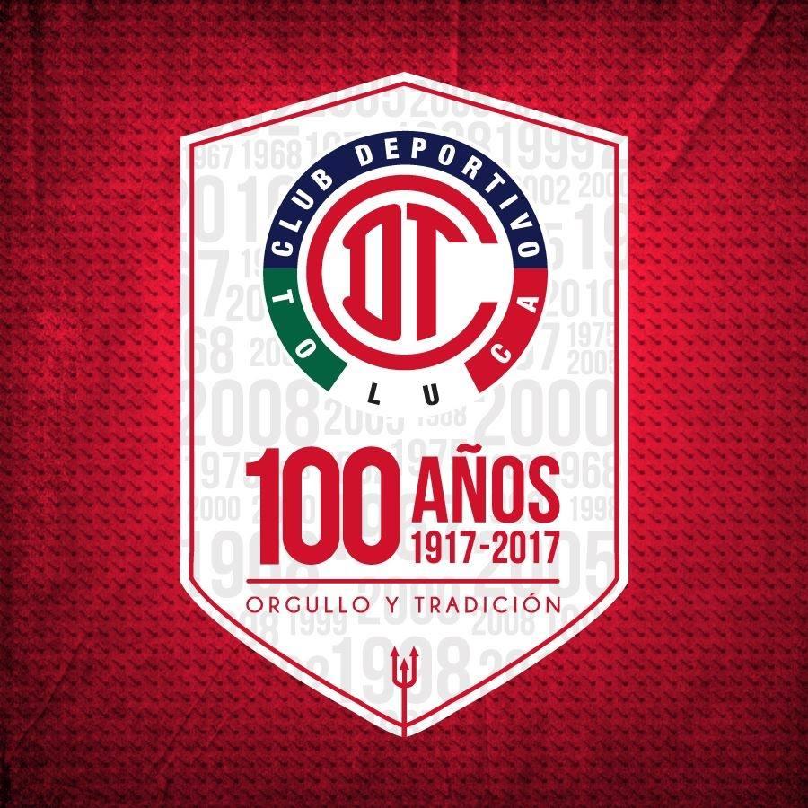 Logo por los 100 años del Toluca   Foto Facebook Oficial