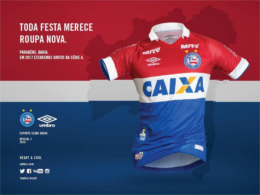 Tercera camiseta del EC Bahía | Foto Web Oficial