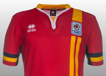 Camiseta titular de Uganda | Foto FUFA