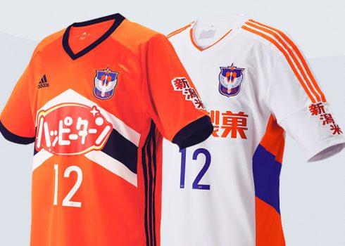 Camisetas del Albirex Niigata | Imágenes Web Oficial