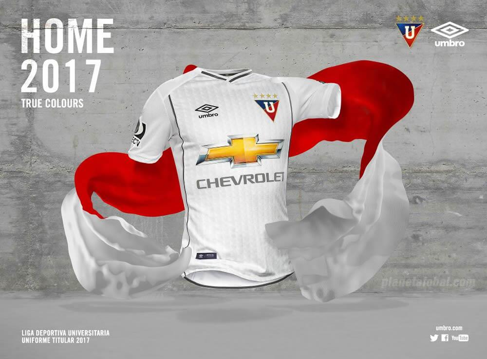 Camiseta titular de la Liga de Quito para 2017 | Foto Umbro