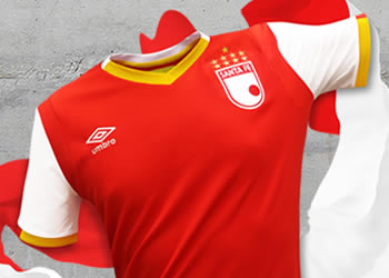 Camiseta titular de Independiente Santa Fe para 2017 | Foto Umbro