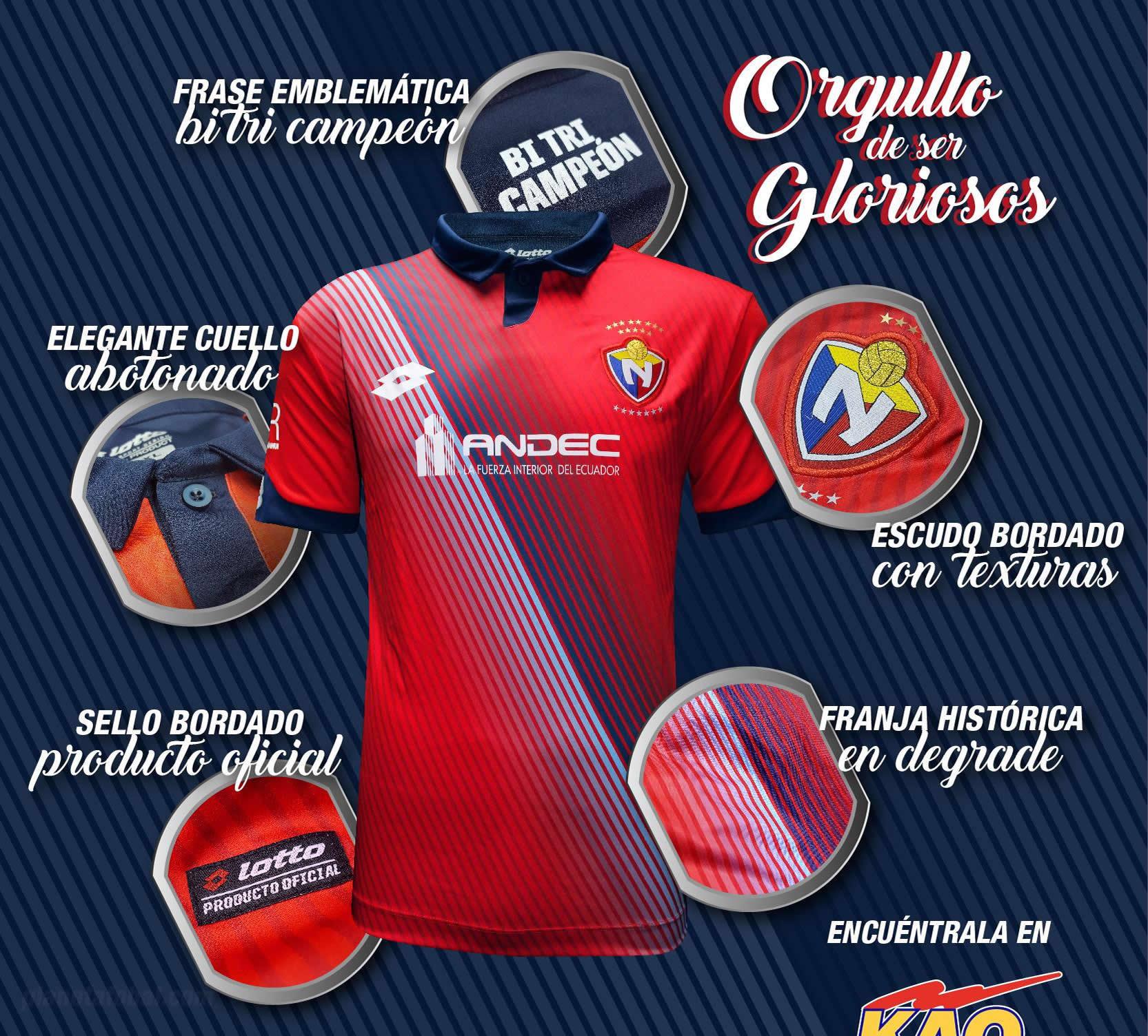 Camiseta titular de El Nacional | Foto Instagram Oficial