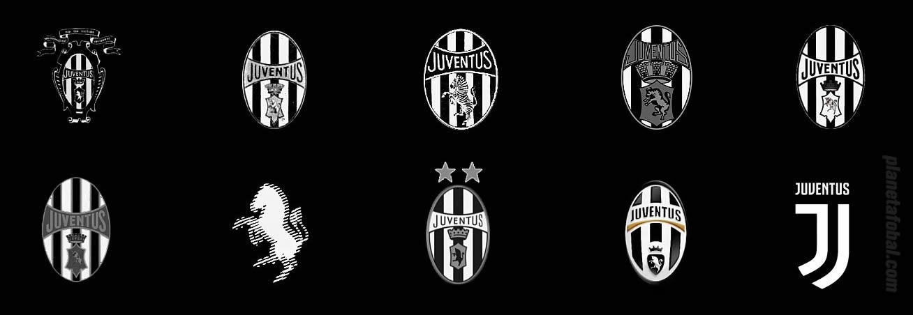 La evolución del escudo desde 1897 hasta 2017