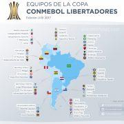 Los 47 equipos de la CONMEBOL Libertadores 2017