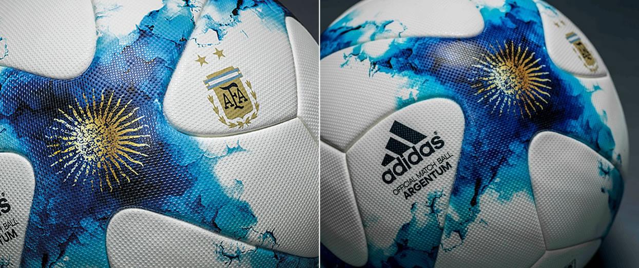 Nueva versión de la Adidas Argentum, pelota oficial de AFA | Foto Ole