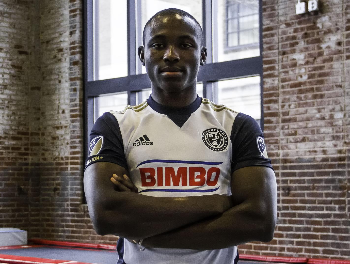 Joshua Yaro con la nueva camiseta de Philadelphia Union | Foto web oficial