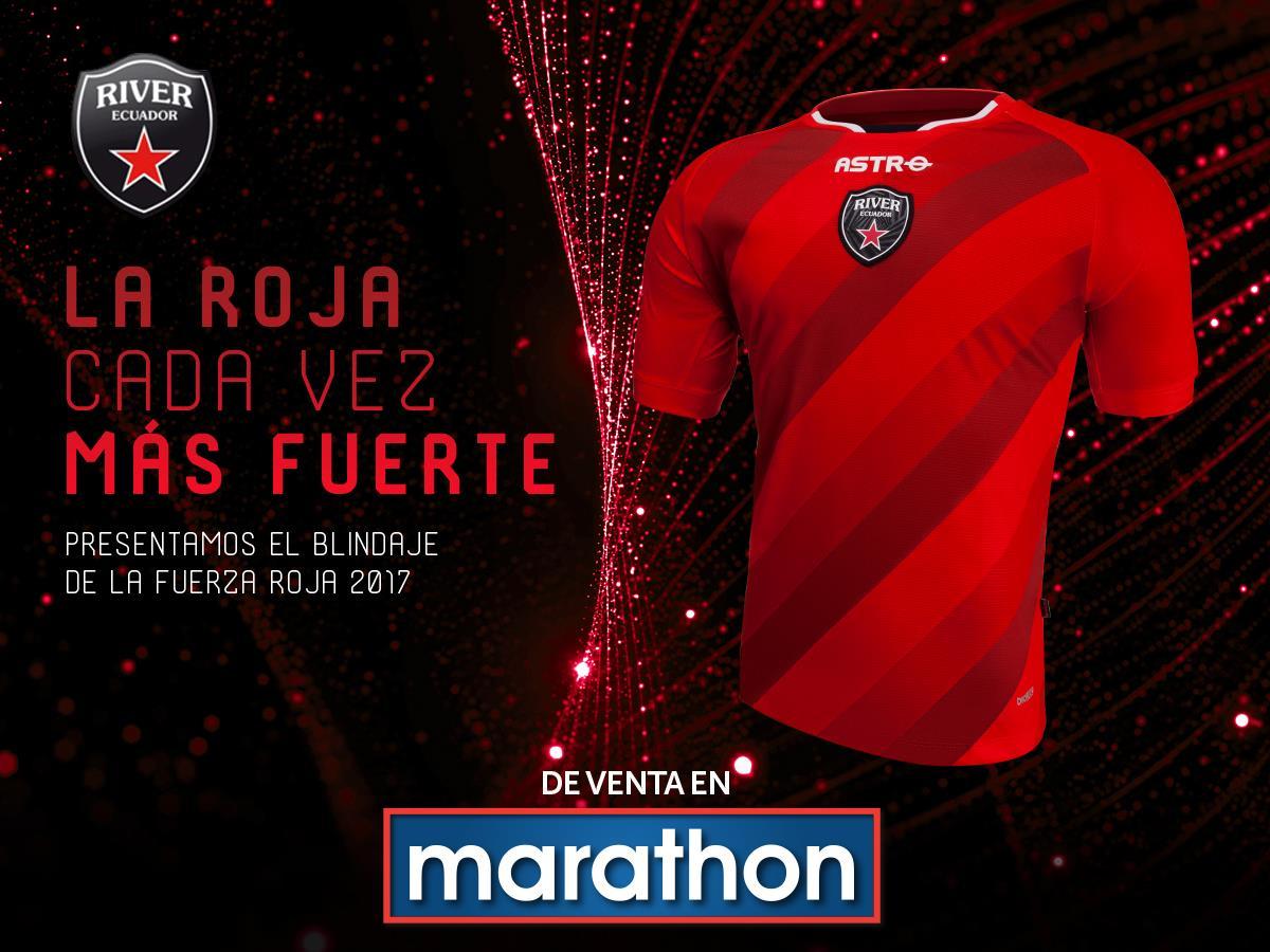 Nueva camiseta de River Ecuador | Foto Marathon