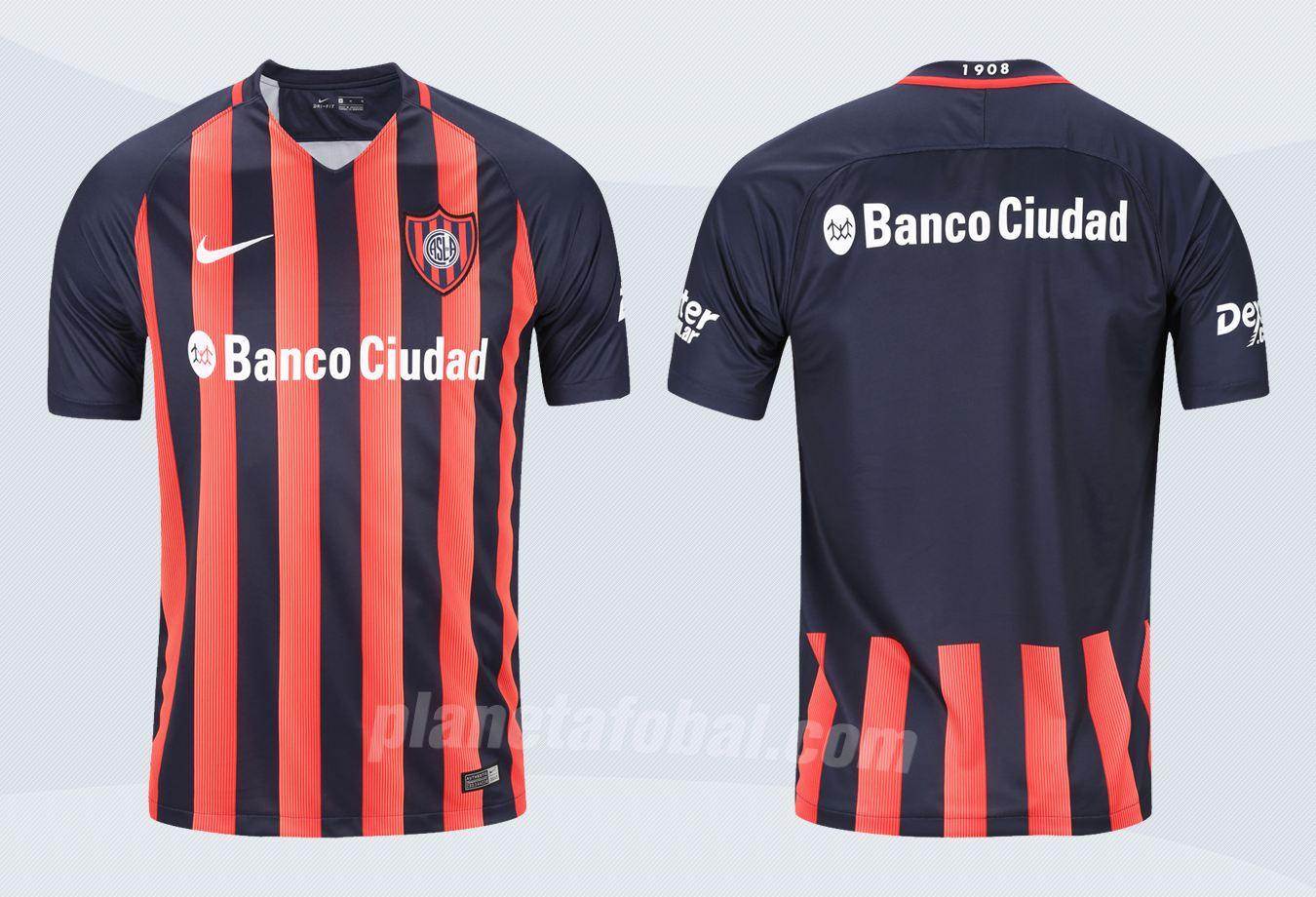 Nueva camiseta de San Lorenzo | Imágenes Tienda Oficial