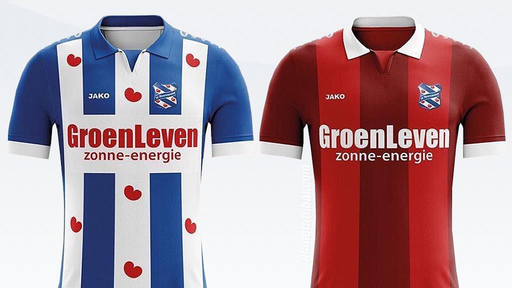 Las camisetas 2017/18 del SC Heerenveen | Imágenes Web Oficial