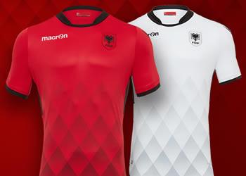 Nuevas camisetas de Albania | Foto Macron