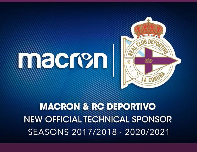 Macron vestirá al Deportivo | Foto Web Oficial