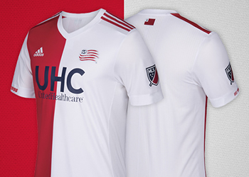 Nueva camiseta de New England Revolution | Foto Web MLS