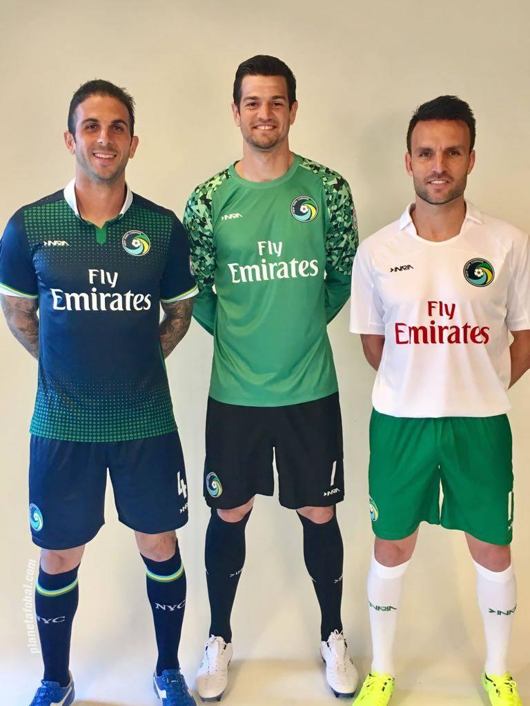 Nuevas camisetas del NY Cosmos | Foto Twitter Oficial