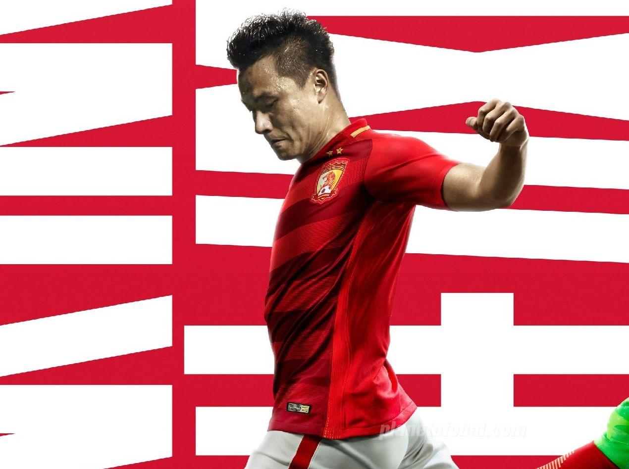 Camiseta titular del Guangzhou Evergrande | Foto Nike