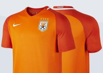 Camiseta titular del Shandong Luneng Taishan para 2017 | Imágenes Nike