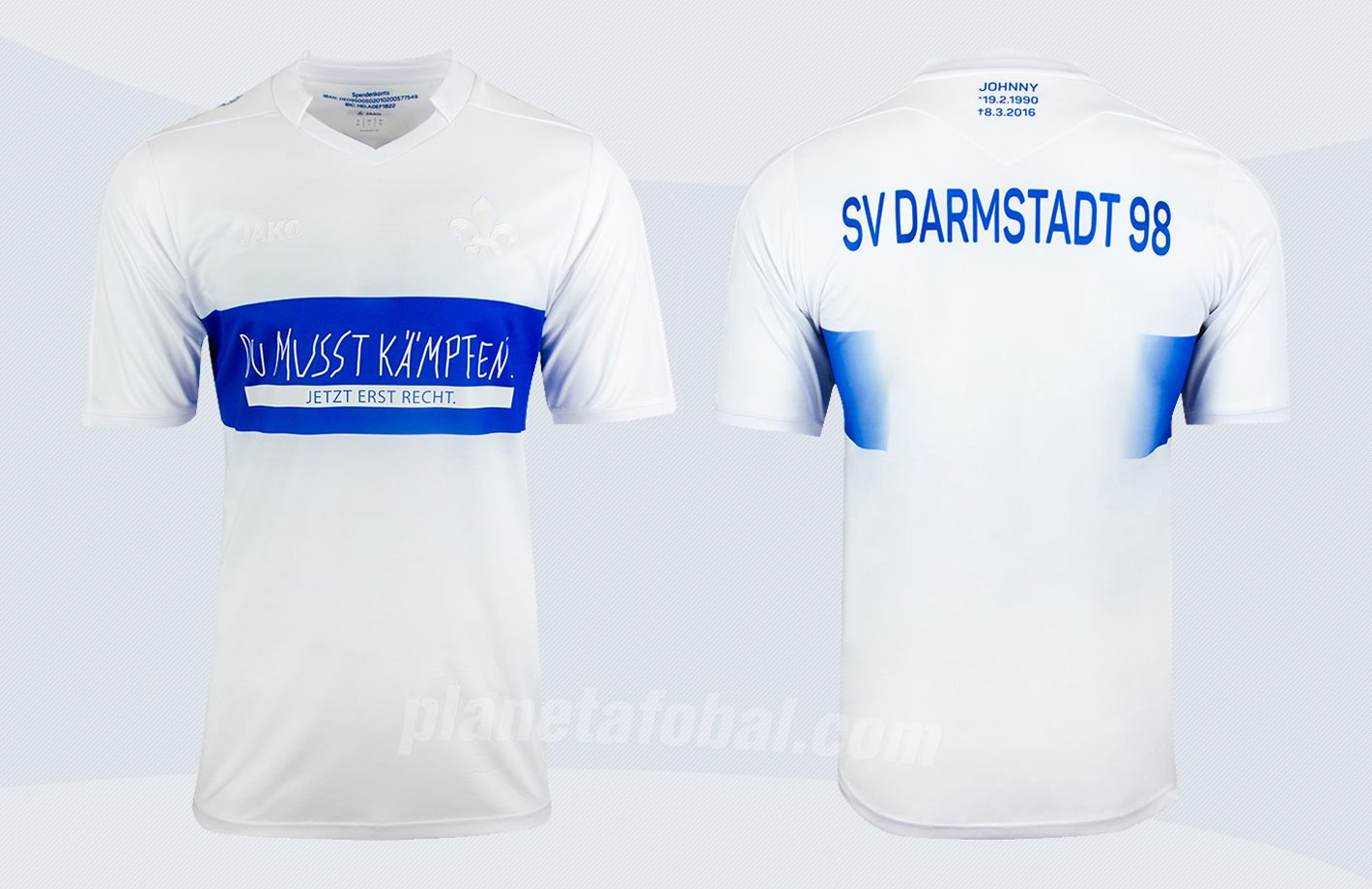 Sondertrikot Jako del SV Darmstadt 98 | Imágenes Web Oficial