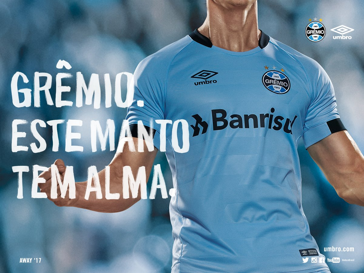 Casaca alternativa del Grêmio | Foto Umbro