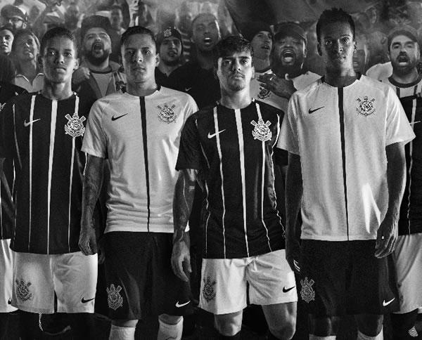 Nuevas camisetas del Corinthians   Foto Web Oficial