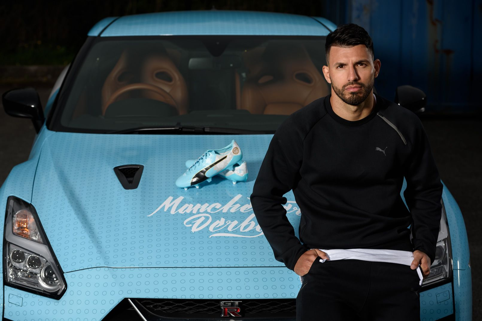 Botines de Sergio Agüero para el derby de Manchester | Foto Puma