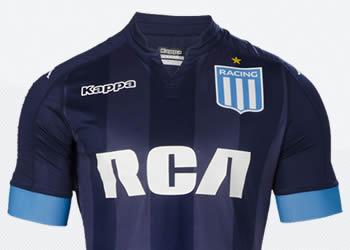 Nueva camiseta suplente de Racing | Foto Kappa