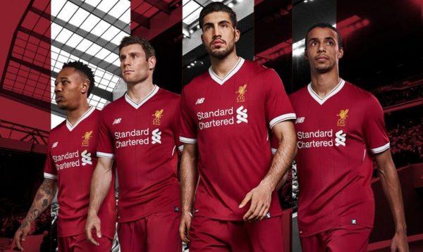 Nueva camiseta del Liverpool FC   Foto Web Oficial