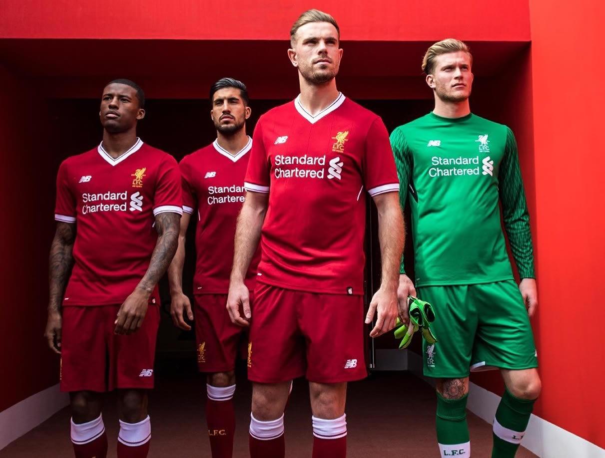 Nueva camiseta del Liverpool FC | Foto Web Oficial