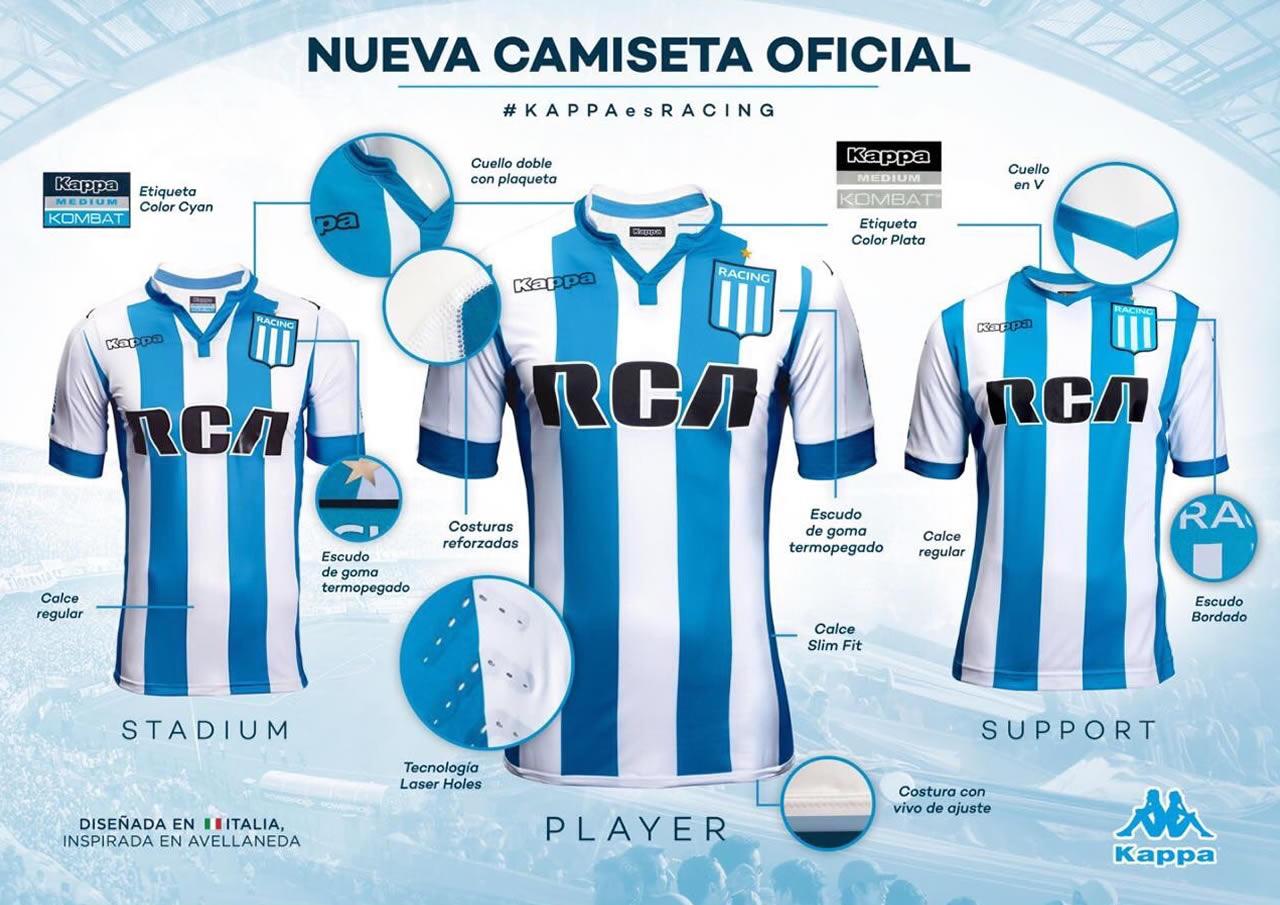 Distintas variantes de la camiseta | Imange Twitter @RacingManíacos