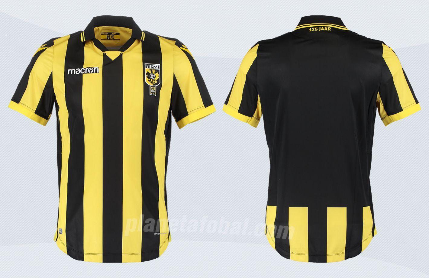 Nueva camiseta titular Macron del Vitesse Arnhem | Imágenes Web Oficial