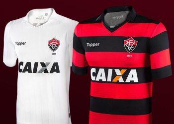 Nuevas camisetas del EC Vitória | Imágenes Gentileza Topper