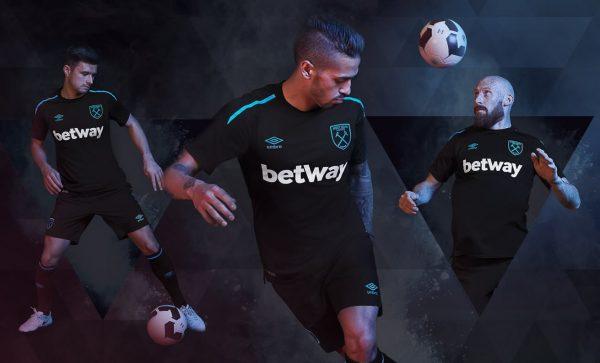 Camiseta suplente del West Ham para la temporada 2017/18 | Foto web oficial