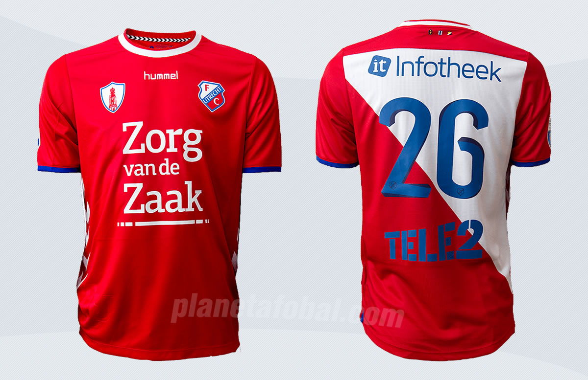 Camiseta titular del FC Utrecht para 2017/2018 | Imágenes Web Oficial
