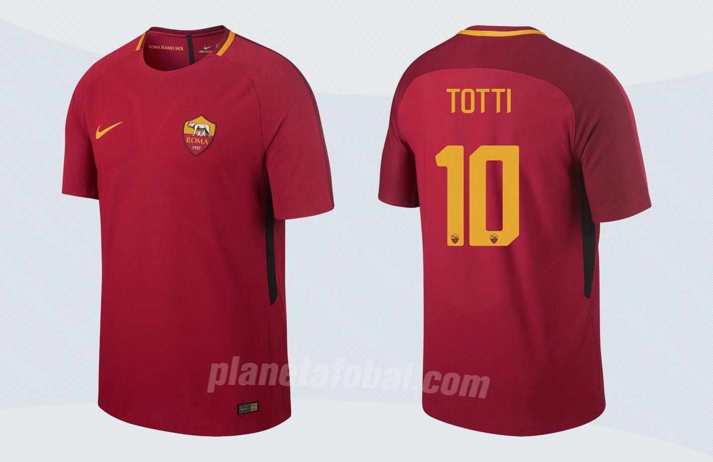 Nueva camiseta titular de la AS Roma | Imágenes Nike