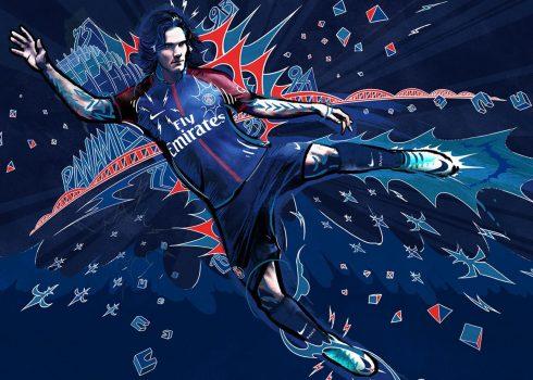 Edinson Cavani en el banner promocional | Foto Web Oficial