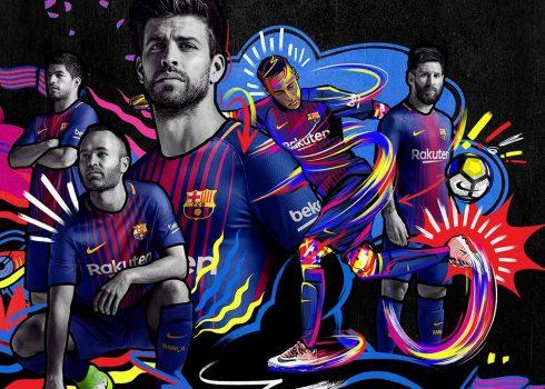 Nueva camiseta titular 2017-18 del Barcelona | Foto Nike