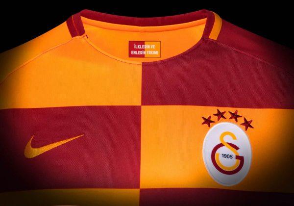 Nueva camiseta titular 2017-18 del Galatasaray | Foto Web Oficial