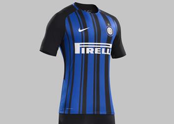 Nueva camiseta titular 2017-18 del Inter | Foto Nike