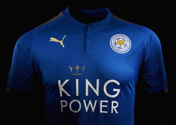 Nueva camiseta titular del Leicester City   Foto Web Oficial