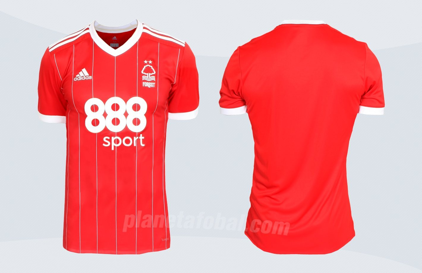 Nueva camiseta titular del Nottingham Forest | Imágenes Web Oficial