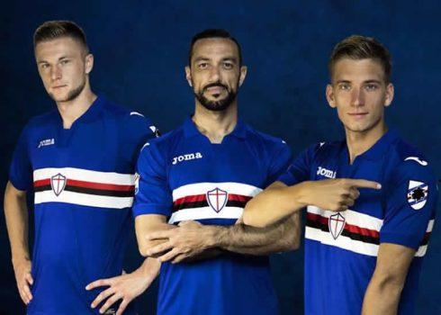 Nueva camiseta titular 2017-18 de la Sampdoria | Foto Web Oficial