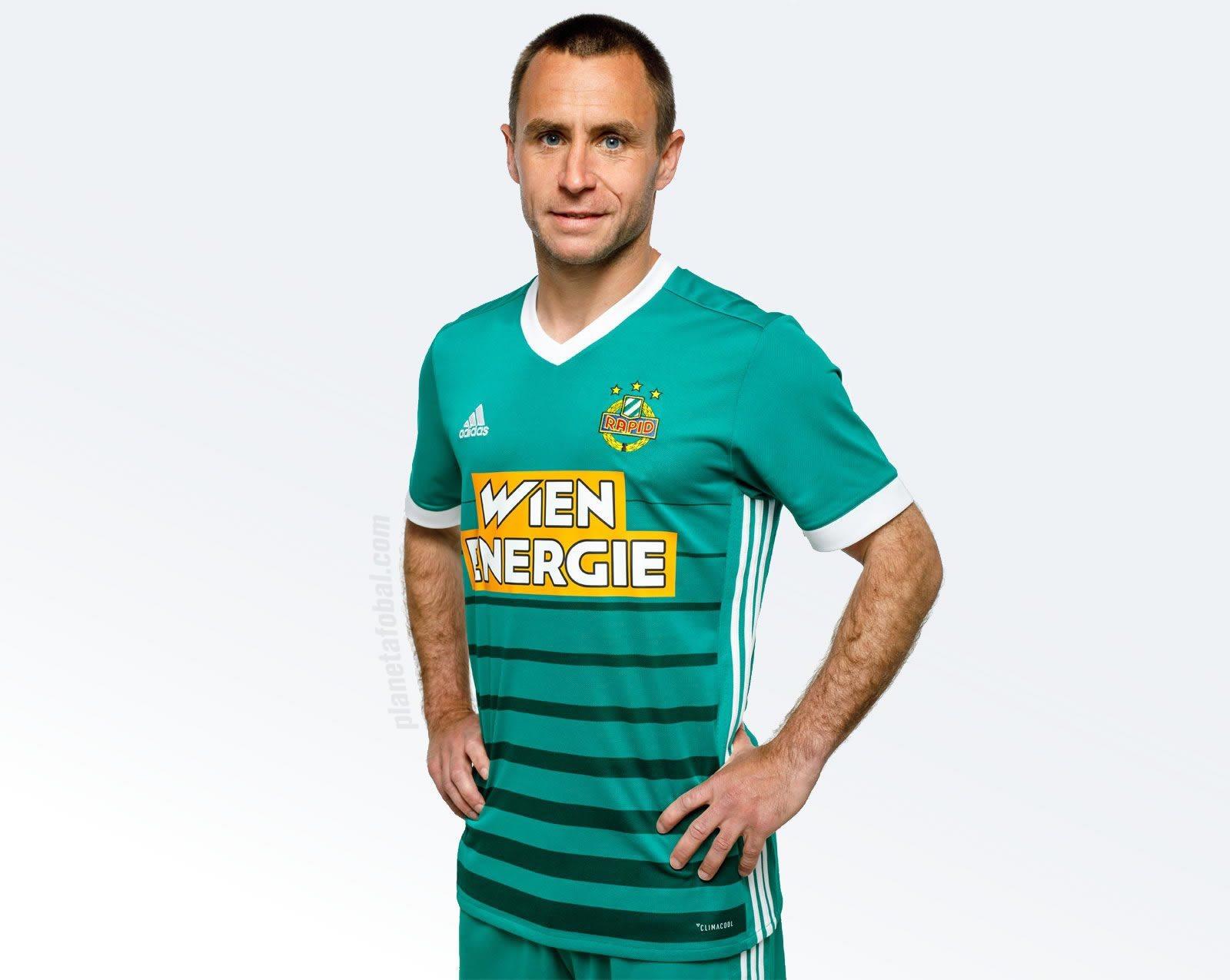 Camiseta titular Adidas 2017-18 del Rapid de Viena | Foto Web Oficial