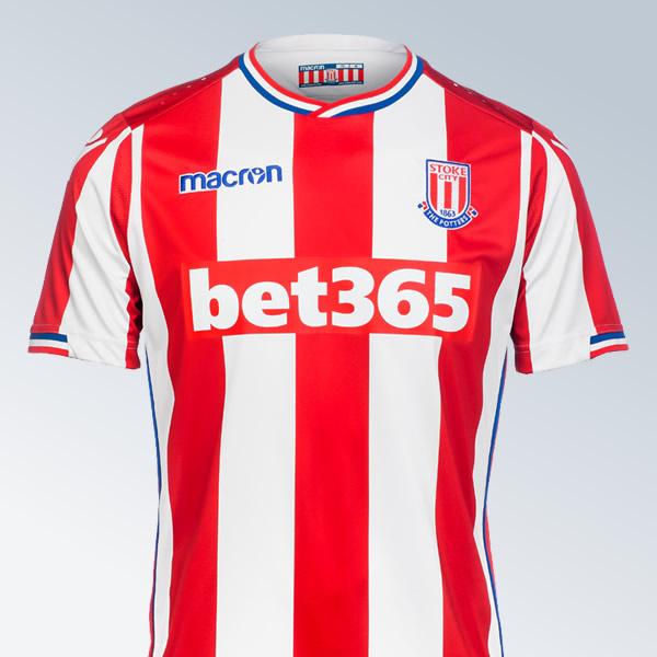 Camiseta titular del Stoke City | Foto Web Oficial