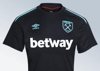 Nueva camiseta suplente 2017-18 del West Ham | Foto Web Oficial